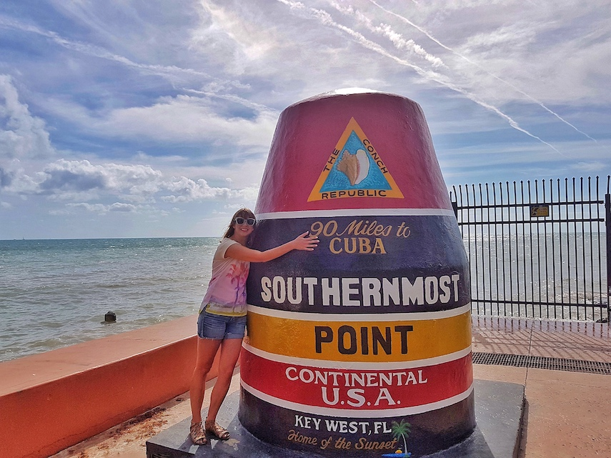 Ella Buchan reaches Key West in Florida on Captivate's Drive US1 influencer marketing campaign